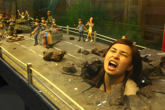 This painting is from the famous art 3D  museum in the Philippines.