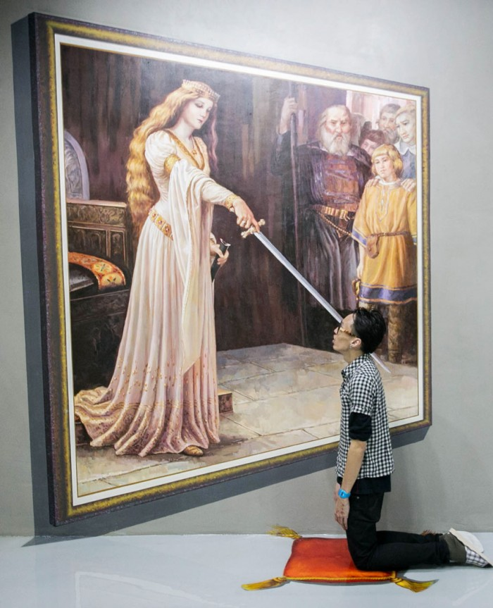 This painting is from the famous 3D art museum in the Philippines.