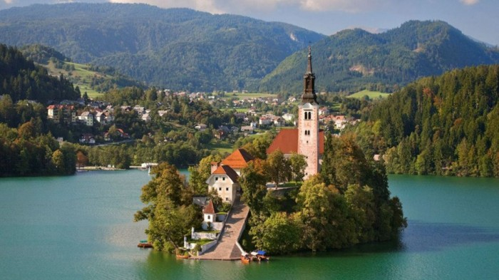 Bled in Slovenia is one of the beautiful small towns in the world.