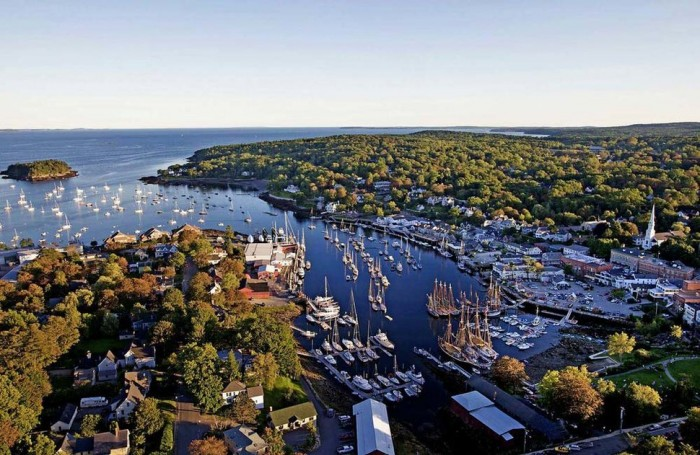 Camden in Maine is one of the beautiful small towns in the world.