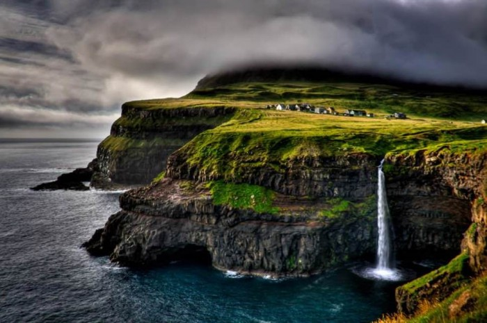 Gasadalur in the Faroe Islands is one of the many beautiful small towns in the world.