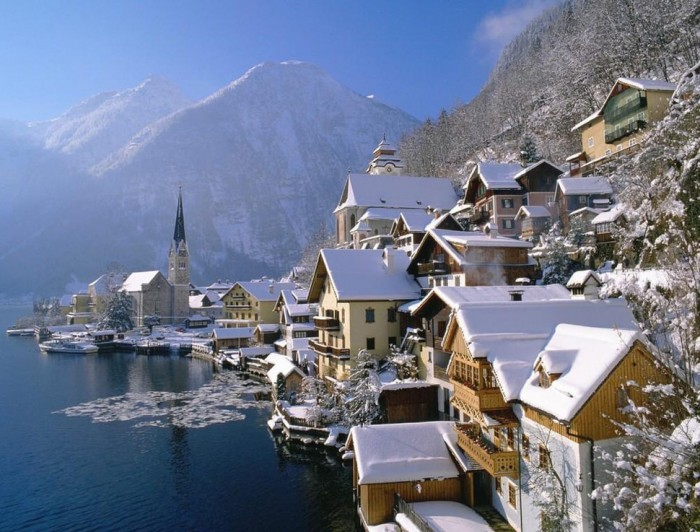 Hallstatt in Austria is one of the beautiful small towns in the world.