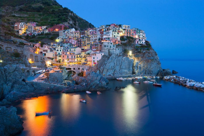 Manarola in Italy is one of the beautiful small towns in the world.