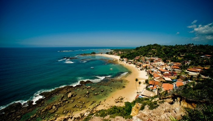 Morro de Sao Paulo is one of the beautiful small towns in the world.