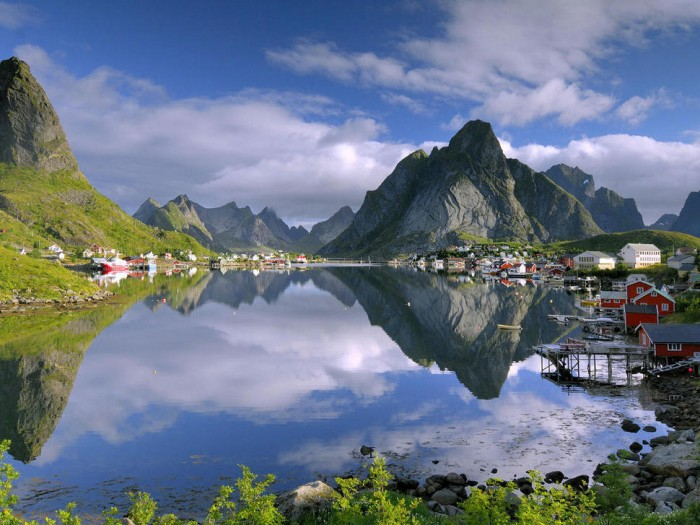 Reine in Norway is one of the beautiful small towns in the world.