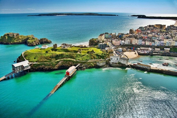 Tenby in Wales is one of the beautiful small towns in the world.