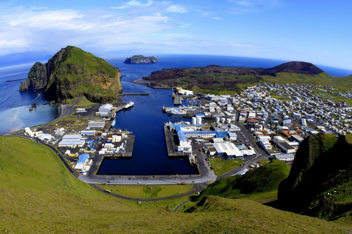 Vestmannaeyjar in Iceland is one of the beautiful small towns in the world.