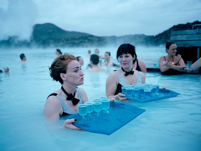 The Blue Lagoon geothermal spa is one of the most popular tourist attractions in Iceland.