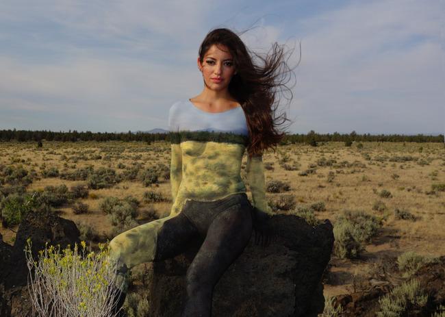 Natalie Fletcher creates amazing body paint pictures.