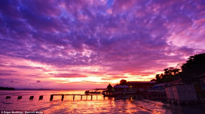 Bocas del Torro in Panama is the one of the best spots to watch spectacular sunsets.
