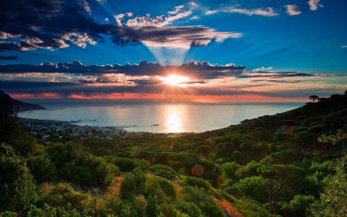 Cape Town is the one of the best spots to watch spectacular sunsets.