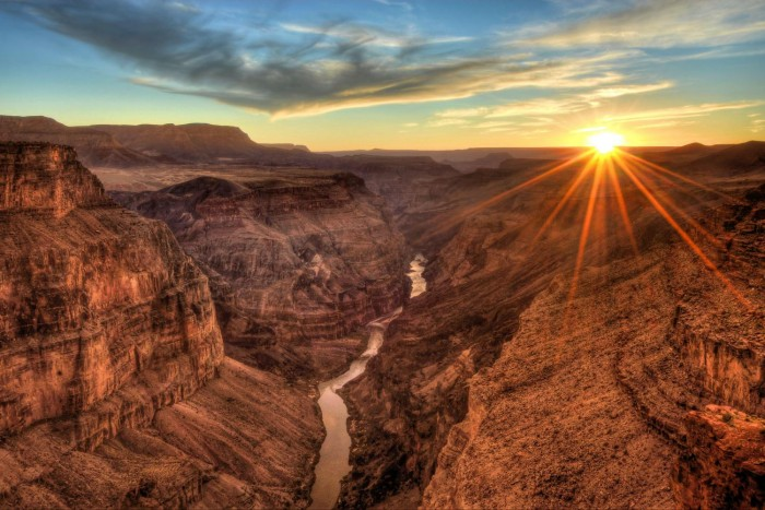 Grand Canyon is the one of the best spots to watch spectacular sunsets.