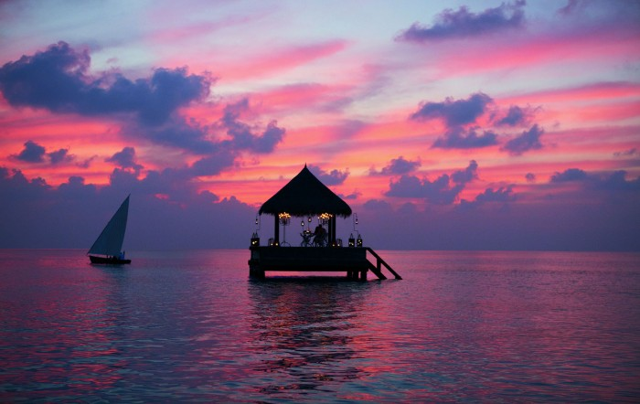 Maldives is the one of the best spots to watch spectacular sunsets.