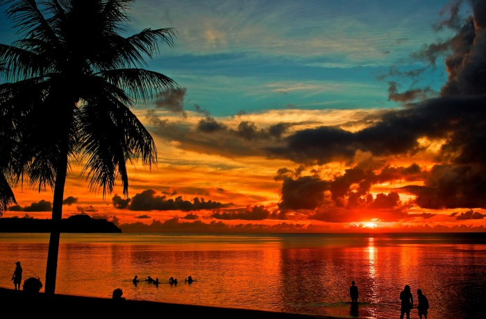 Micronesia is the one of the best spots to watch spectacular sunsets.