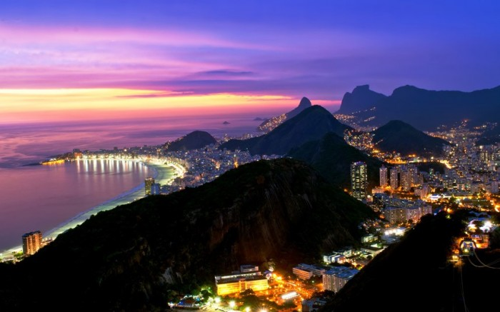Rio de Janeiro is the one of the best spots to watch spectacular sunsets.