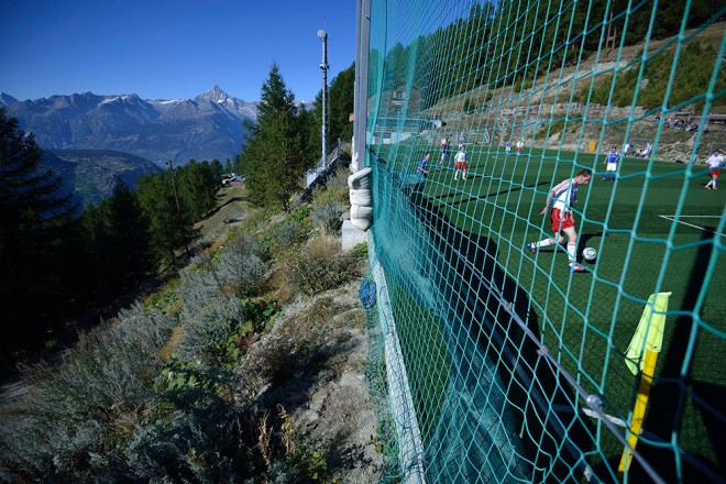 Ottmar Hitzfeld Stadium in Switzerland  is one of the most unusual sports venues in the world.