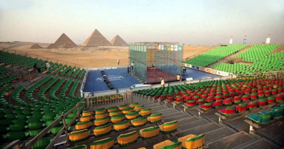 World Open Squash in Giza is one of the most unusual sports venues in the world.