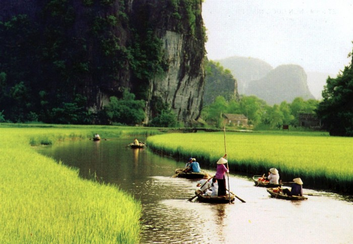 Tam Coc is one of the most beautiful places to visit in Vietnam.