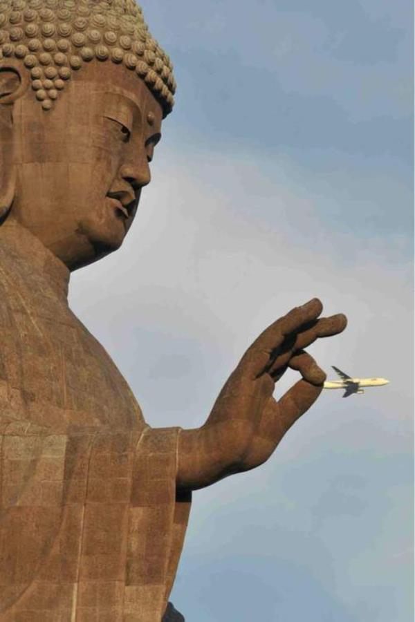 perfectly timed photos, airplane looking like a little toy