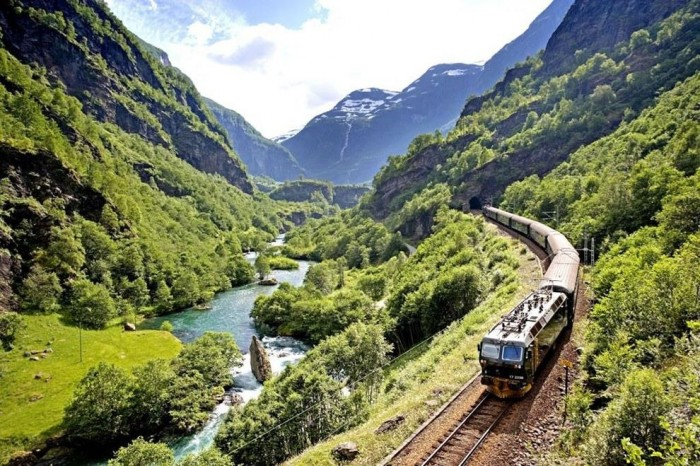 The Flam Line in Norway is one of the most scenic train rides in the world.