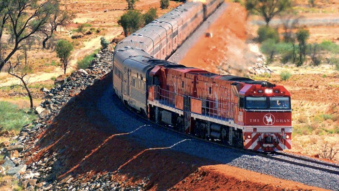 The Ghan in Australia is one of the most scenic train rides in the world.