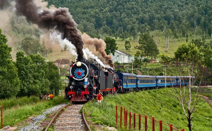 Trans Siberian Railroad  is one of the most scenic train rides in the world.