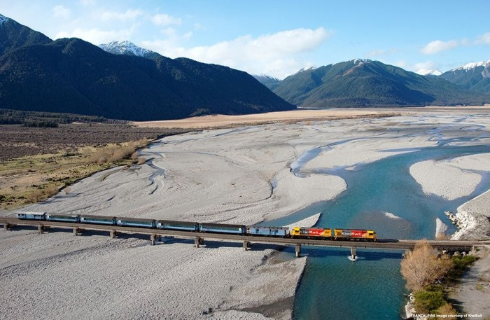 Tranzalpine in New Zealand is one of the most scenic train rides in the world.