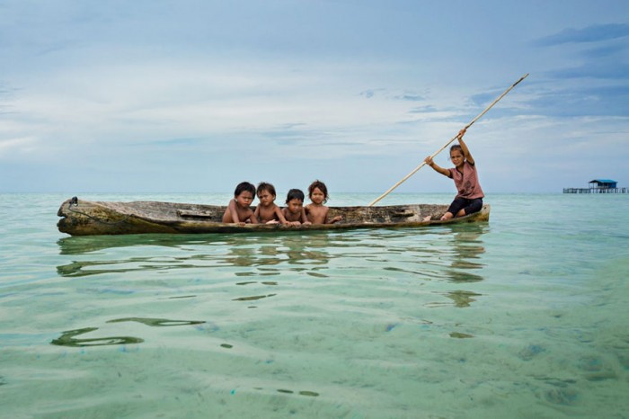The Bajau people in Borneo are considered sea gypsies as they sail from place to place in search of food.