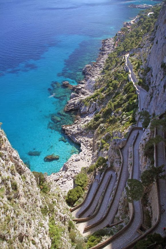 Capri path in Italy is one of the most spectacular cliff walks in the world.
