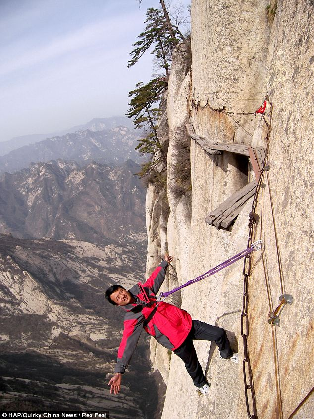 Chang Kong Cliff Road in China is one of the most spectacular cliff walks in the world.