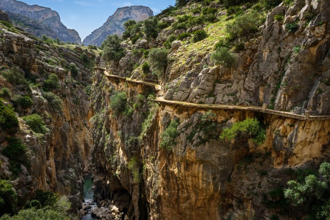 El Caminito del Rey in Spain is one of the most spectacular cliff walks in the world.