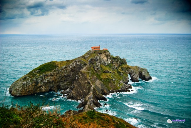Path to Gaztelugatxe in Spain is one of the most spectacular cliff walks in the world.