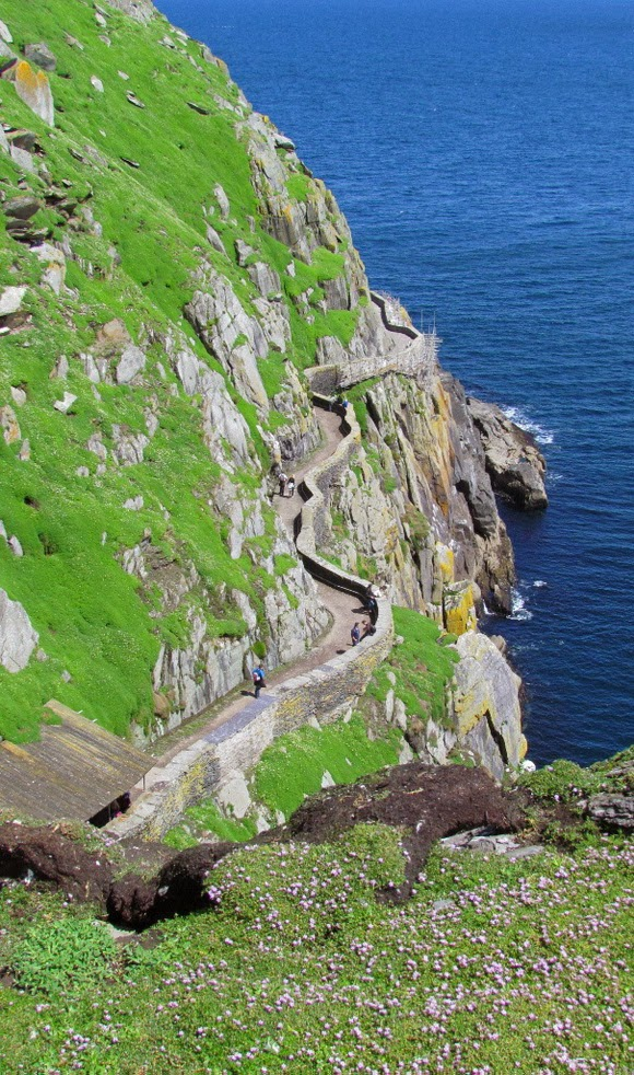 Skellig Michael Path in Ireland is one of the most spectacular cliff walks in the world.