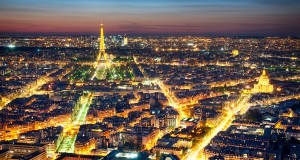 Paris the city of lights, at night