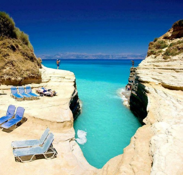 Corfu island in Greece is one of the best beach honeymoon destinations in the world.