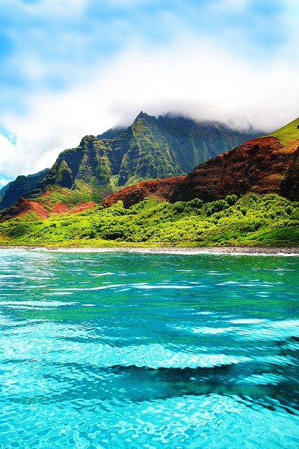 Napali Coast in Hawaii is one of the best beach honeymoon destinations in the world.