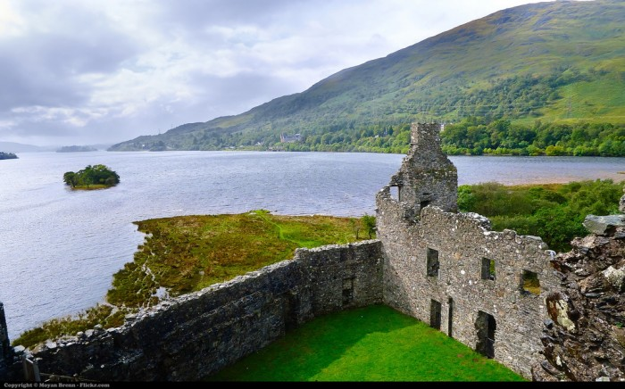 Kilchurn Castle in Loch Awe is one of top 15 Scotland tourist attractions.