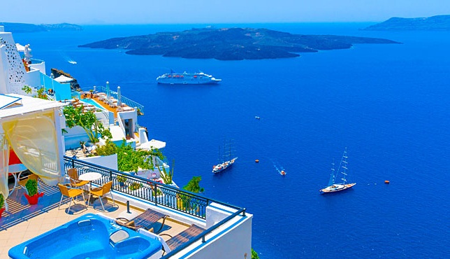 Santorini in Greece is the fourth on the list of top 10 island destinations for 2015.