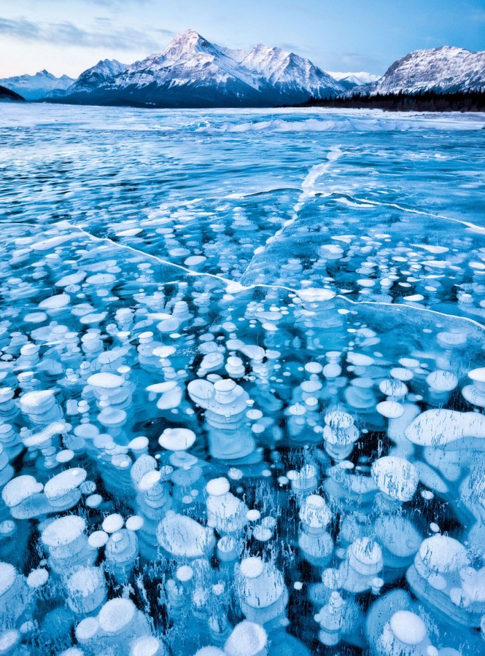 Abraham Lake in Canada is one of the 20 unbelievable places on earth.