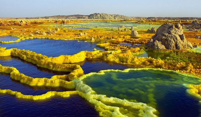 Dallol volcano in Ethiopia is one of the 20 unbelievable places on earth.