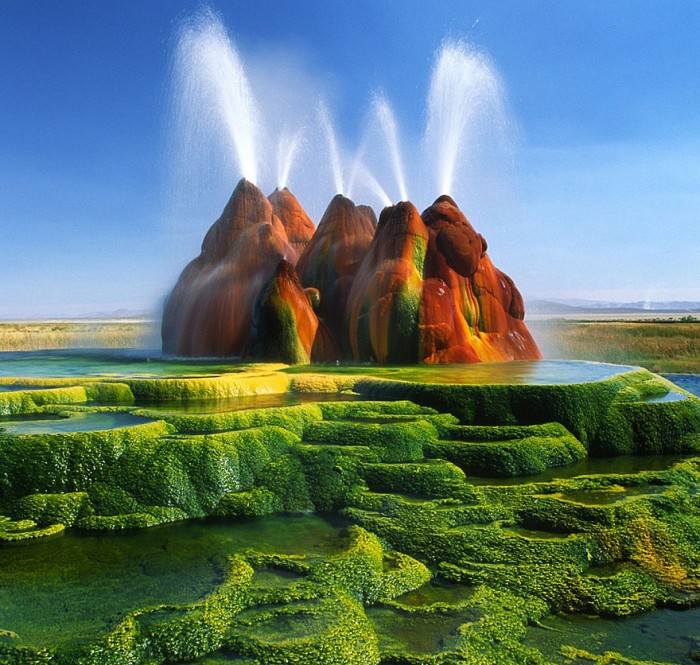 Fly Geyser in Nevada is one of the 20 unbelievable places on earth.