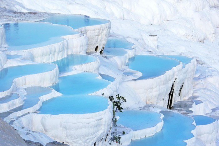 Pamukkale in Turkey is one of the 20 unbelievable places on earth