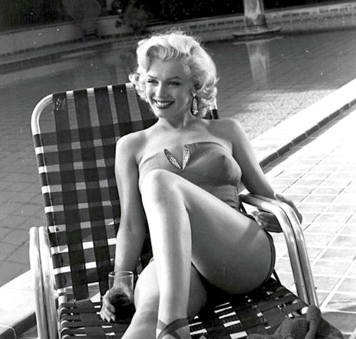 Marilyn Monroe in one of the fashion items that changed the world - the bikini.
