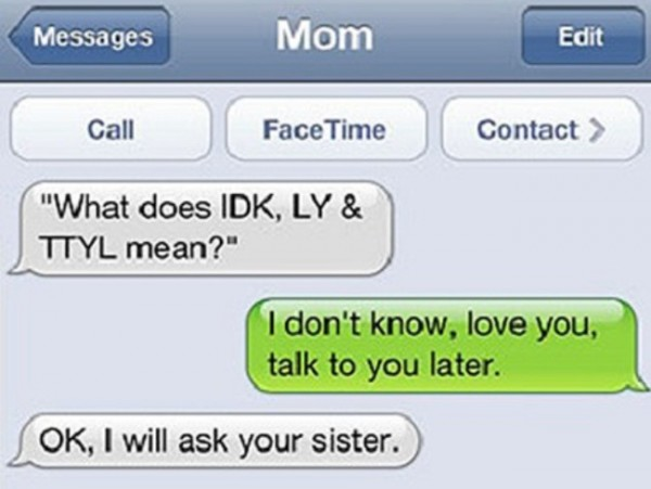 The funniest texts from parents to their kids.