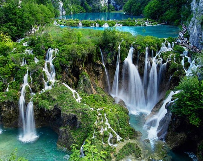Plitvice Lakes is one of the most beautiful places to visit in Croatia.