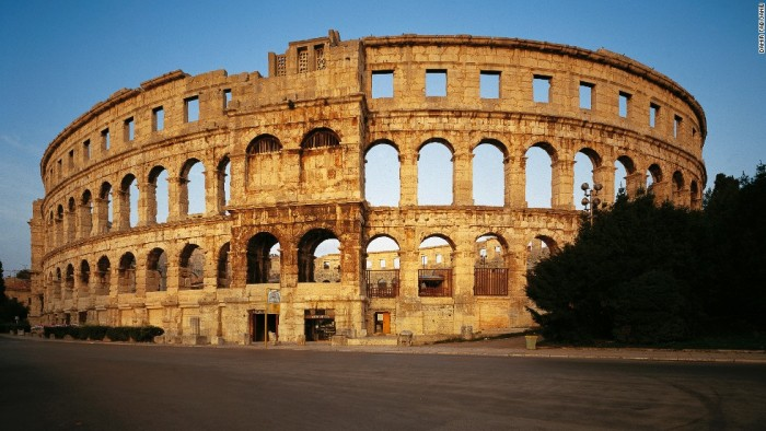 Pula Arena is one of the most beautiful places to visit in Croatia.