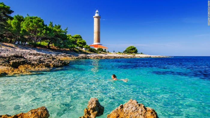 Lighthouse Veli Rat is one of the most beautiful places to visit in Croatia.