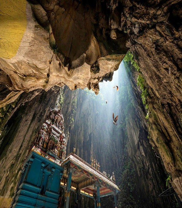 One of 15 unforgettable bucket list trips is Batu Caves in Malaysia.