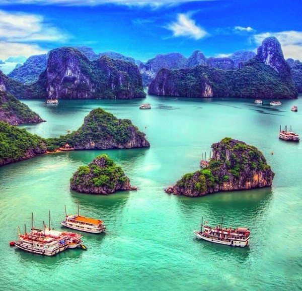 One of 15 unforgettable bucket list trips is Ha Long Bay in Vietnam.
