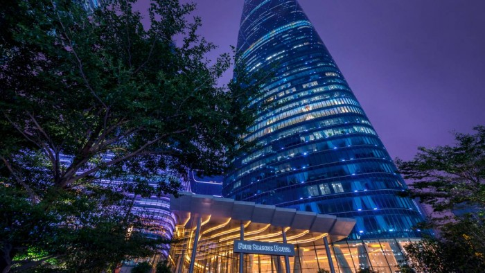 Four Seasons Hotel in Guangzhou is one of the most unusual hotels in China.